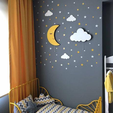 Светильник детский на стену , ночник из дерева