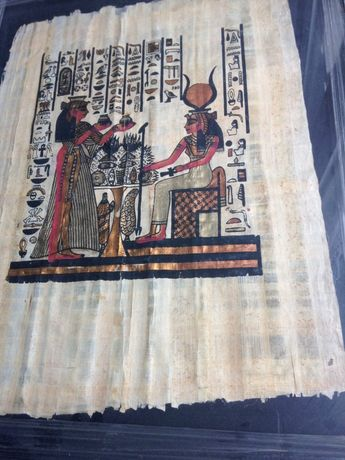 Папирус Египет в рамке под стеклом
