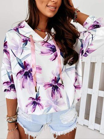 Bluza w kwiaty Cocomore Andżela kwiatowy print premium M L 38 40