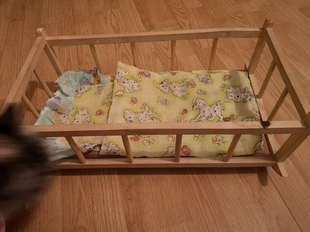 kołyska łóżeczko, wanienka, nocnik grający dla lalek maszyna do szycia
