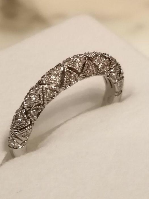 Золотое кольцо с бриллиантами 0.40 карат Одесса - изображение 1