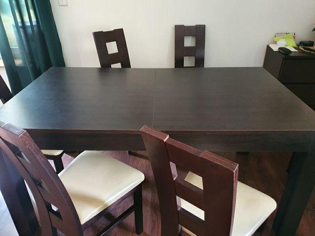 Stół rozkładany + 6krzesel
