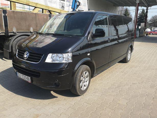 Wynajme/sprzedam bus 9 osobowy VW T5 Caravella 1.9 tdi Long
