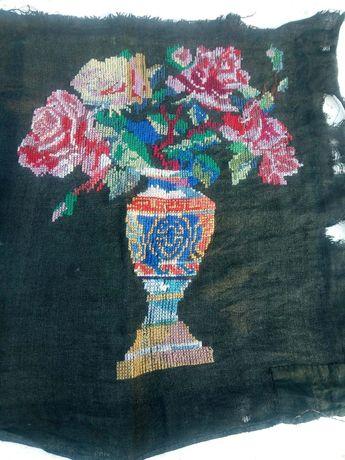 Старинная вышивка крестиком.