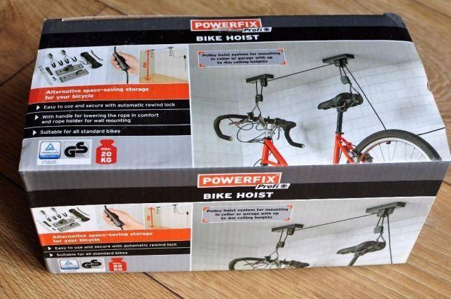 WIESZAK rowerowy Powerfix Profi + Bike Hoist -NOWY-real foto