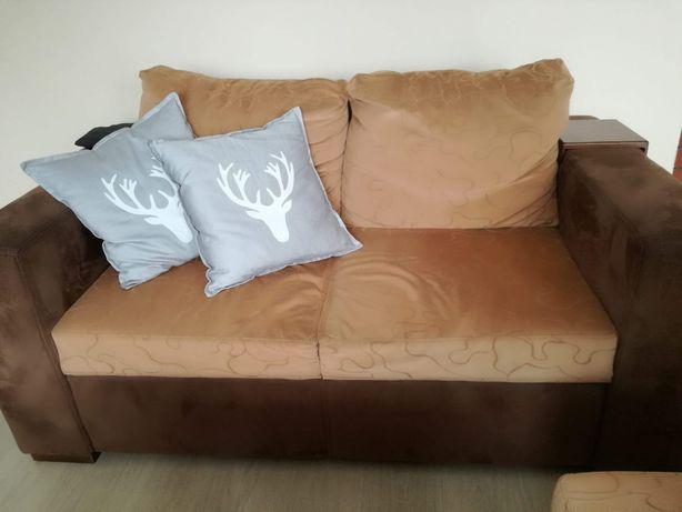 Zestaw wypoczynkowy sofa fotel pufa