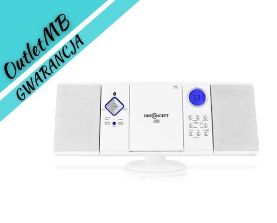 Wieża stereo odtwarzacz CD radio Bluetooth FM USB SD biały 151207