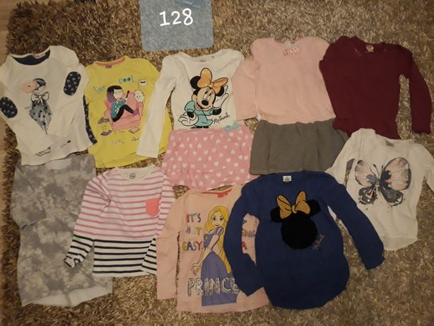 Paka 128 koszulki bluzki sukienka dresowa tunika cool club Disney HM