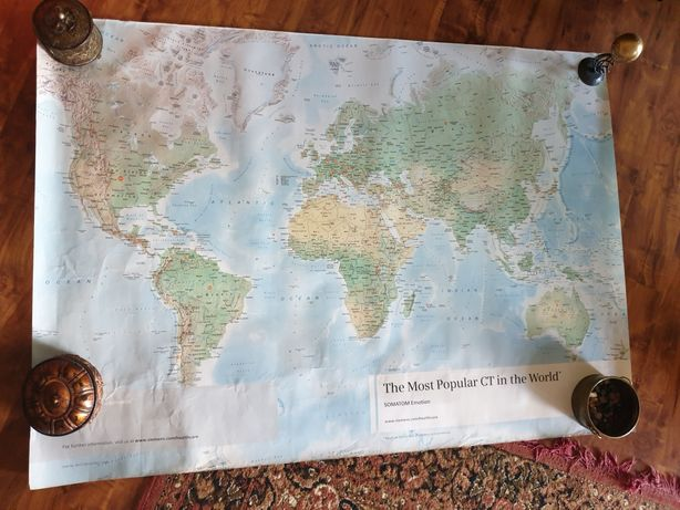 Mapa swiata 120x170