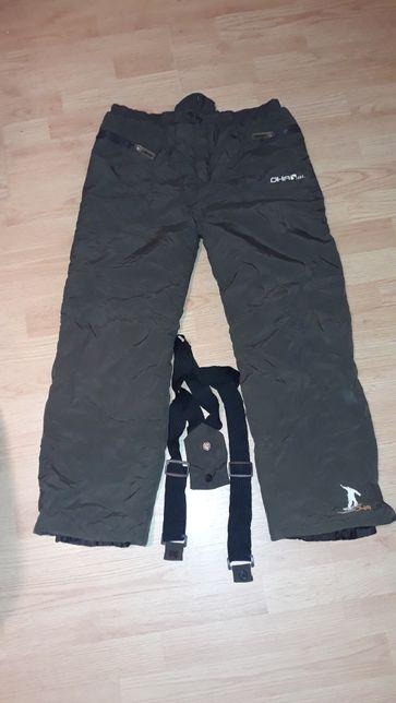 Ocieplanie spodnie narciarskie z szelkami