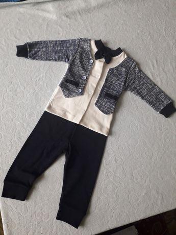 Костюмчик на вихід (Хрестини) для новонародженого хлопчика 56-60 р