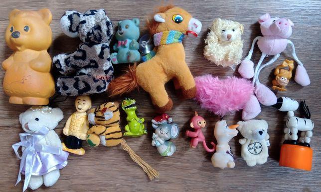 Лот игрушек мягких