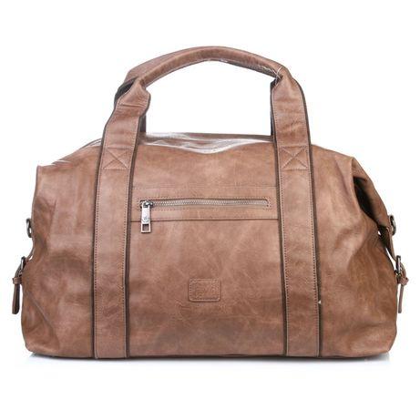 Мужская сумка дорожная с одним отделением на молнии David Jones.