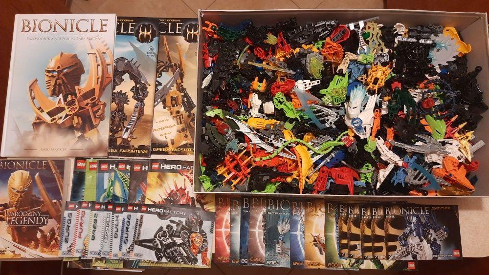 Lego Bionicle, 3,2 kg klocków, 30 zestawów z instrukcjami Kraków - image 1