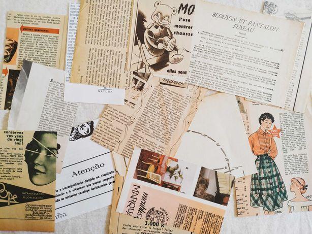 Pack Papel de Revistas Vintage: Journaling, Junk Journal, Scrapbook
