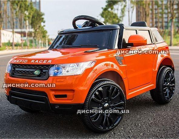 Детский электромобиль 1638 ЕВА оранжевый, Дитячий електромобiль