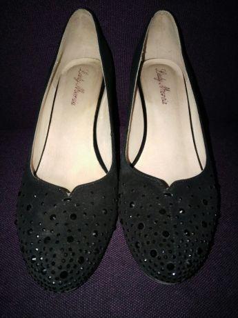 Туфли осень весна замш черные в отличном состоянии Сумы - изображение 1