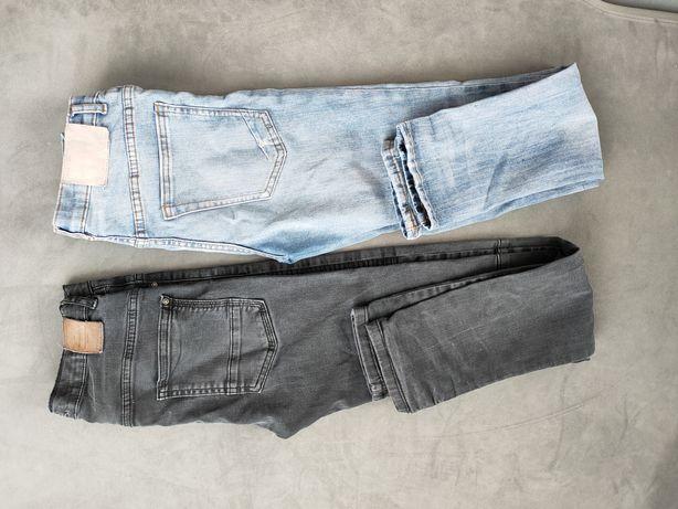 Spodnie ZARA czarne i niebieskie