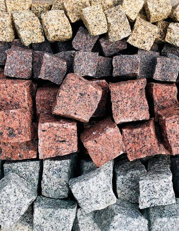 Kostka granitowa szara - różne frakcje