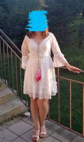 Sukienka koronkowa L