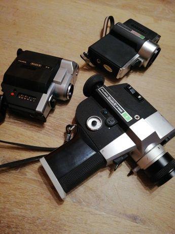 Lote de 3 câmaras de filmar vintage Fujica 8mm