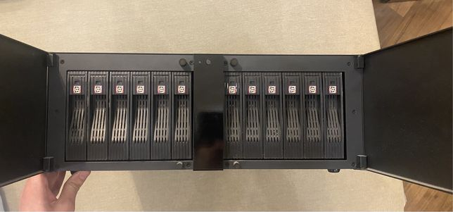 Сетевое хранилище, nas, сервер (12hdd)