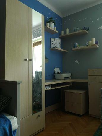 Komplet mebli od stolarza-szafa, biurko, szafki, półki, kontener