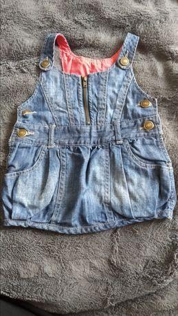 Sukienka jeansowa, rozmiar 80