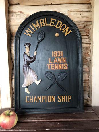 Prezent Stara tablica reklamowa WIMBLEDON 1931