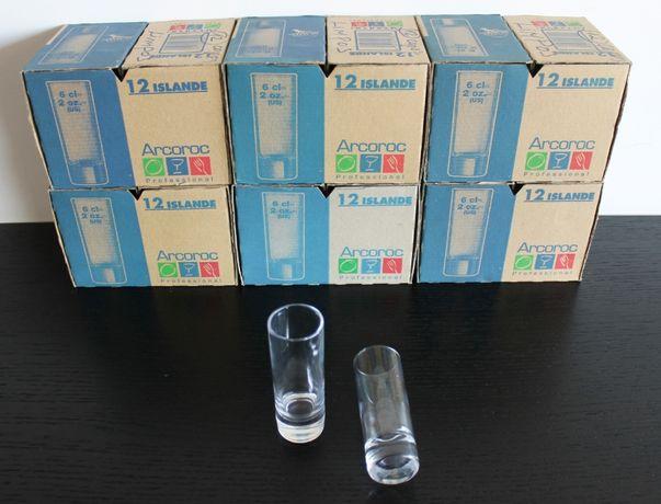 48 Copos de vidro para shot de 6 cl (NOVAS SEM USO)