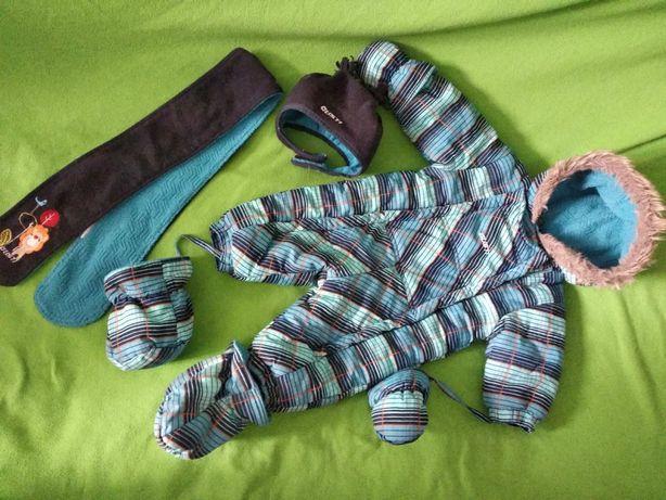 Gusti, комбинезон зимний, комбінезон зимовий, шапка та шарф.