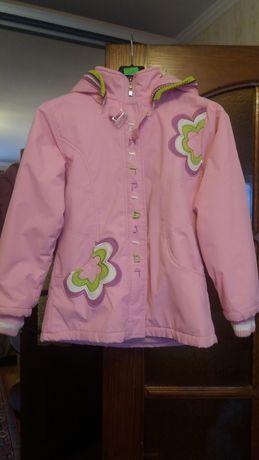 Куртка детская.Ярко розовая