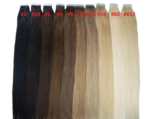 Taśmy KANAPKI Komplet 40/50/60 cm Włosy SŁOWIAŃSKIE NATURALNE 100%