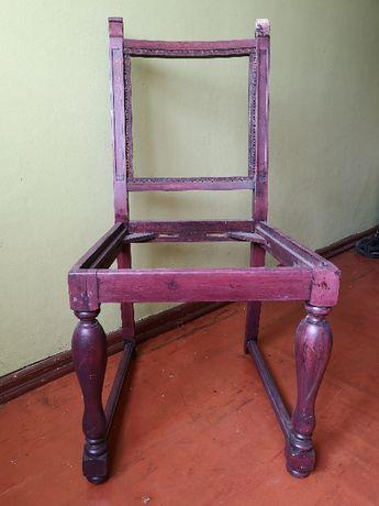 Krzesło drewniane do renowacji tapicerowane eleganckie oryginalne