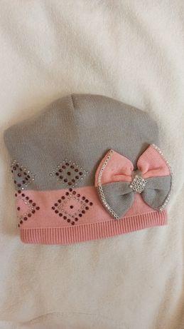 Детская шапка шапочка для девочки 5-7 лет Деми весна осень