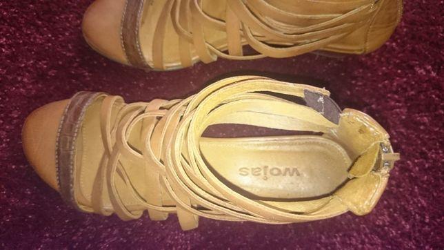 Sandały skórzane WOJAS roz. 36