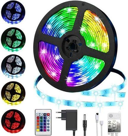 Комплект светодиодная лента LED 3528 RGB 5 м с пультом