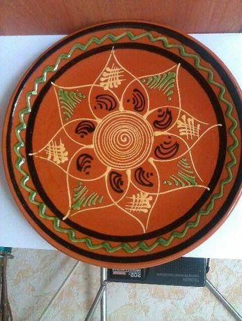 Антиквариат.Настенная тарелка,глина,Германия , времен ссср.