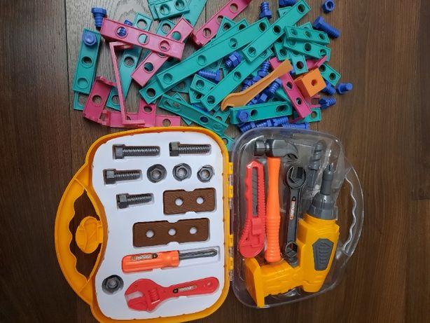 Конструктор інструмент дитячий дрель , болтики шурупи іграшки
