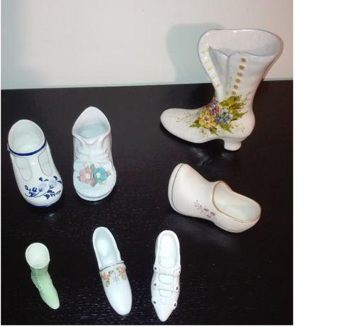 Botas e sapatos em porcelana