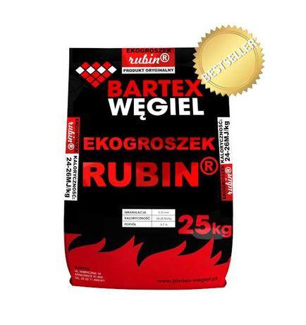 Ekogroszek Bartex Polski Węgiel RUBIN 1000 kg /24zł za Worek