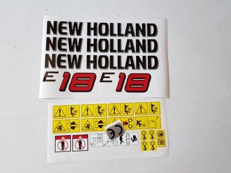 naklejki mini koparka new holland e 18