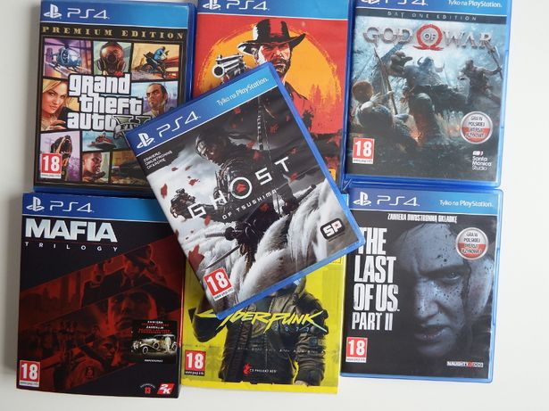 PS4 PS5 Cyberpunk 2077 Last Of Us 2 Ghost of Tsushima RDR 2 GTA 5