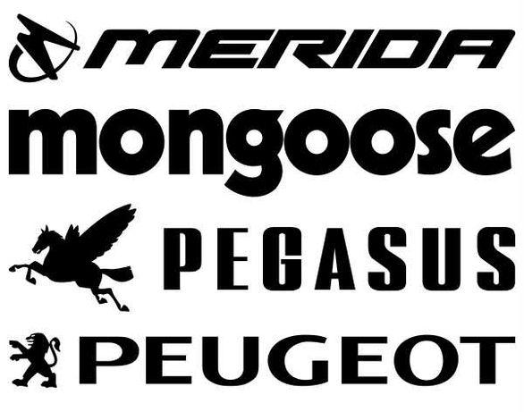 MERIDA MONGOOSE PEGASUS PEUGEOT naklejki na rower komplet 6 sztuk