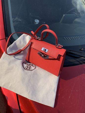 Hermès Kelly сумка клатч кошелёк портмоне кожа натуральная