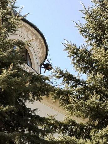 alpinistyczne wysokościowe prace budowlane naprawa malowanie elewacji