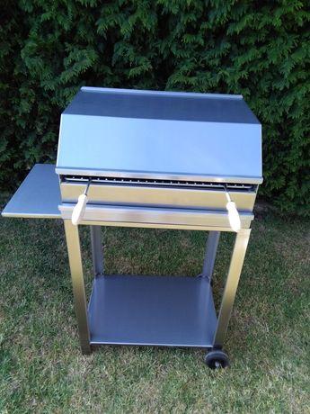 Barbecue portátil em inox 60x40