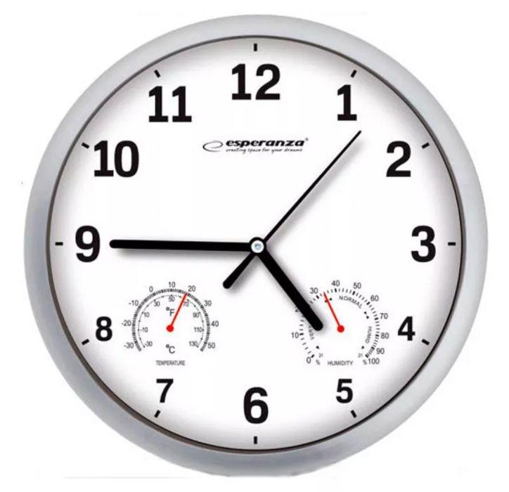 Nowoczesny Zegar Ścienny Okrągły Esperanza Lyon