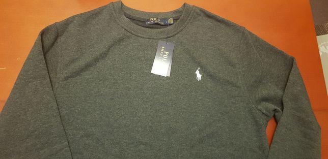 Polo ralph Laurent nowy swetr sweter bluza męska rozmiar L szary metki