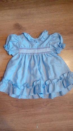 Piekna wysciowa sukienka dziewczeca rozm 62-68